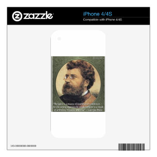 Georges Bizet Religion Shame Quote Gifts & Cards iPhone 4S Decals
