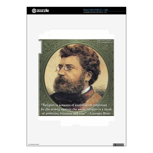 Georges Bizet Religion Shame Quote Gifts & Cards Skins For iPad 2