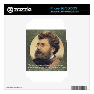 Georges Bizet Religion Shame Quote Gifts & Cards Skin For iPhone 2G