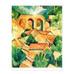 Georges Braque - Viaduc de l'Estaque Painting Post Card