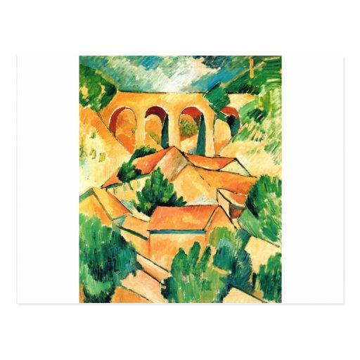 Georges Braque - Viaduc de l'Estaque Painting Postcard