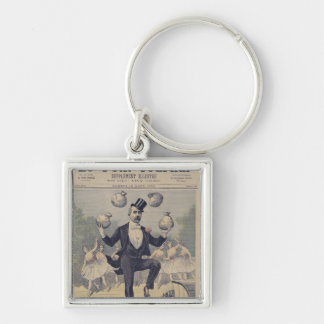 Georges Clemenceau  juggling bags of English Keychain