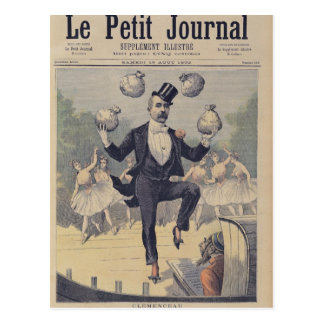 Georges Clemenceau  juggling bags of English Postcard