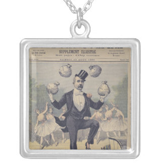 Georges Clemenceau  juggling bags of English Square Pendant Necklace
