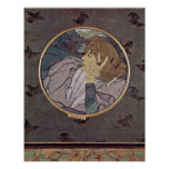 Georges de Feure - The voice of evil Tondo Posters