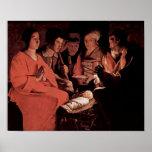 Georges de La Tour - Adoration of the Shepherds Poster