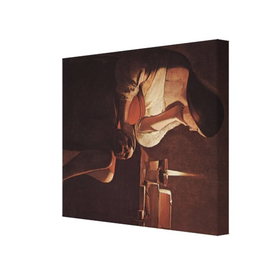 Georges de La Tour Art Canvas Print