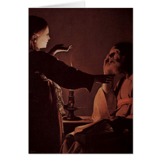 Georges de La Tour Art Card