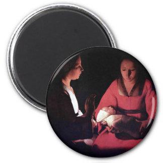 Georges de La Tour Art 2 Inch Round Magnet