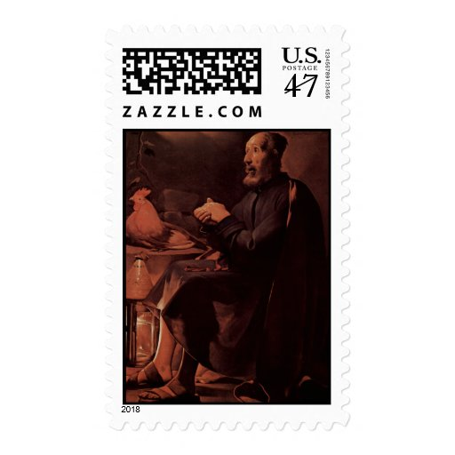 Georges de La Tour Art Postage Stamp