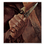 Georges de La Tour - Brawl of musicians:Knife Print