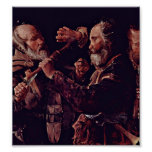 Georges de La Tour - brawl of the musicians Print