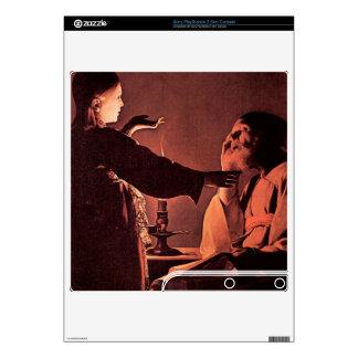 Georges de La Tour - el ángel aparece a St José Consola PS3 Slim Calcomanías