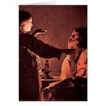 Georges de La Tour - el ángel aparece a St José Tarjeton