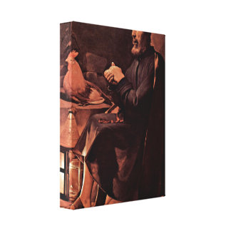 Georges de La Tour - el arrepentimiento de San Ped Lona Envuelta Para Galerías