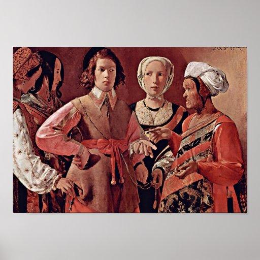 Georges de La Tour - látigo Impresiones