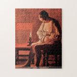 Georges de La Tour - mujer con el rompecabezas de