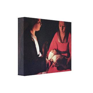 Georges de La Tour - Newlyborn infant Gallery Wrapped Canvas