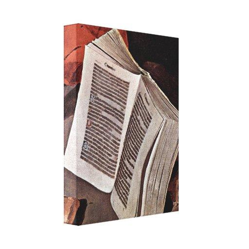 Georges de La Tour - Penitent St Jerome: Book Canvas Print