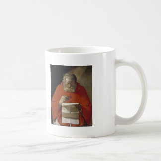 Georges de la Tour- Saint Jerome reading a letter Classic White Coffee Mug