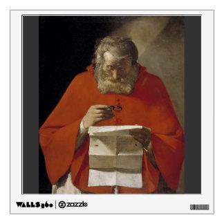Georges de la Tour- Saint Jerome reading a letter Room Decal