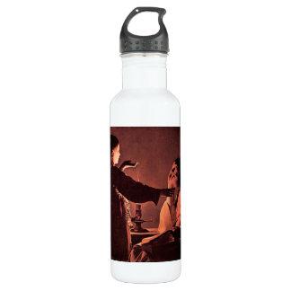 Georges de La Tour - The angel appears to St Josep 24oz Water Bottle