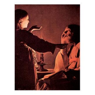 Georges de La Tour - The angel appears to St Josep Postcard