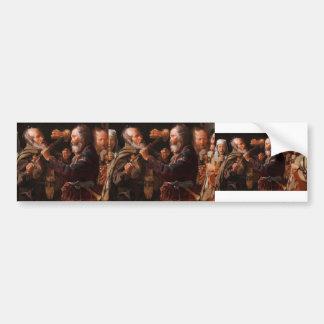 Georges de la Tour- The Beggars' Brawl Bumper Stickers
