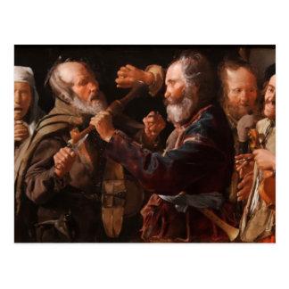 Georges de la Tour- The Beggars' Brawl Postcard