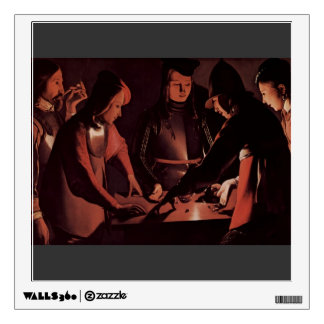 Georges de la Tour- The Dice Players Wall Stickers
