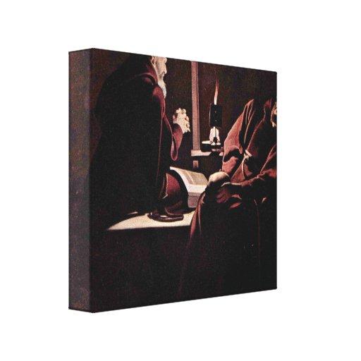 Georges de La Tour - The ecstasy of St Francis Canvas Print