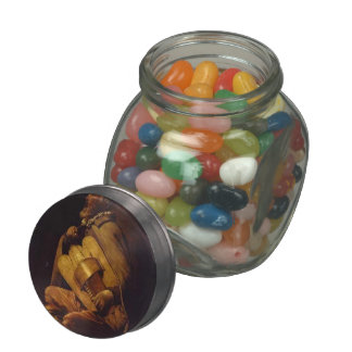 Georges de la Tour- The Hurdy-Gurdy Player Jelly Belly Candy Jar