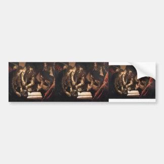 Georges de la Tour- The Payment of Dues Bumper Sticker