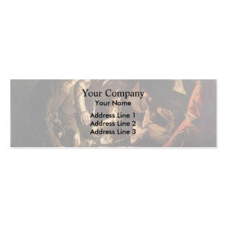 Georges de la Tour- The Payment of Dues Double-Sided Mini Business Cards (Pack Of 20)