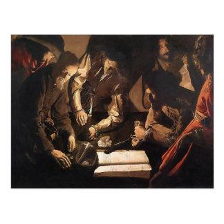 Georges de la Tour- The Payment of Dues Postcard