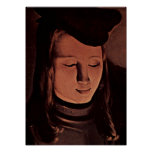Georges de La Tour - Young man frontal Print