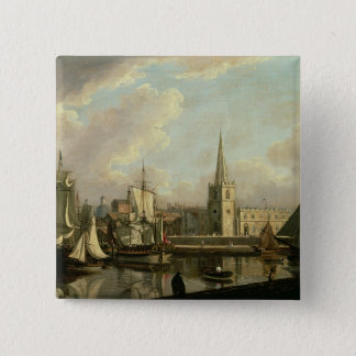 George's Dock Basin, Liverpool, 1797 (oil on canva Button
