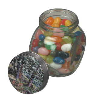 Georges Lacombe- Oaks and Blueberry Bushes Jelly Belly Candy Jar