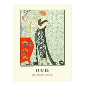 Georges Lepape Vintage Art Deco Fashion Fumee Postcard