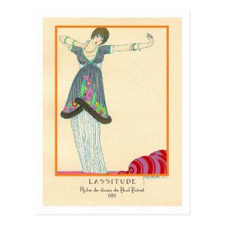 Georges Lepape Vintage Art Deco Fashion Lassitude Postcard