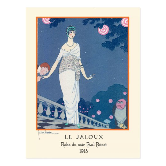 Georges Lepape Vintage Art Deco Fashion Le Jaloux Postcard