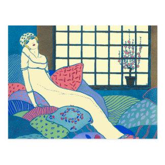 Georges Lepape Vintage Art Deco Fashion Les Choses Postcard