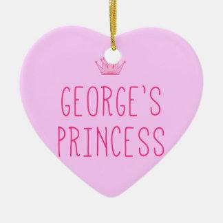George's Princess Ceramic Ornament