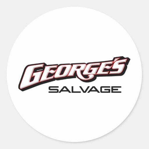 George's Salvage Logo 8-2-11 Round Stickers