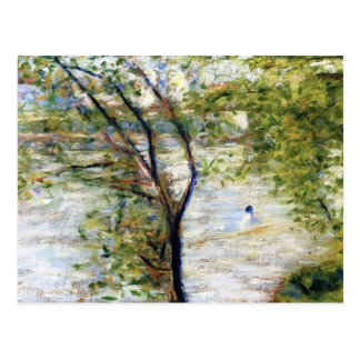 Georges Seurat- A canoes Postcard