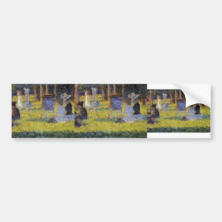 Georges Seurat-A Sunday Afternoon on the Island Car Bumper Sticker