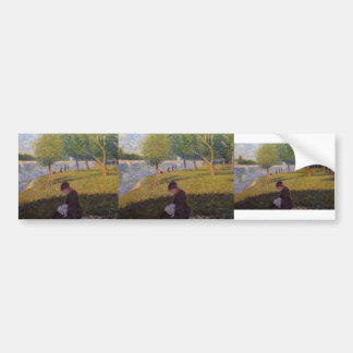 Georges Seurat-A Sunday Afternoon on the Island Bumper Sticker