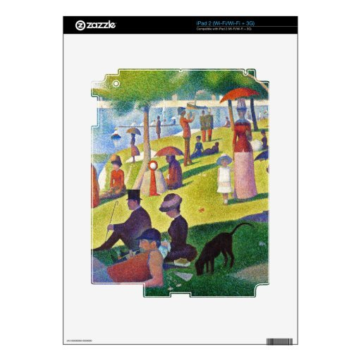 Georges Seurat - A Sunday Afternoon.... Decals For iPad 2