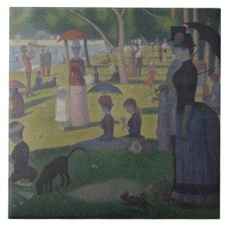 Georges Seurat - A Sunday on La Grande Jatte Ceramic Tile