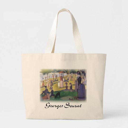 Georges Seurat - A Sunday on La Grande Jatte Large Tote Bag